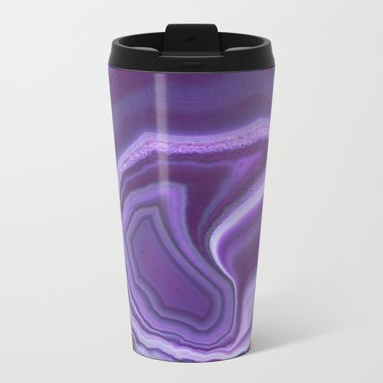 Purple colored agate Metal Travel Mug