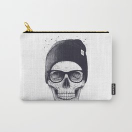 Grey Skull in a hat Carry-All Pouch