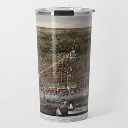 Brooklyn map vintage Travel Mug