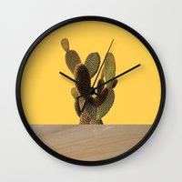 cacti Wall Clocks featuring CACTI by MODERN UNDERGROUND