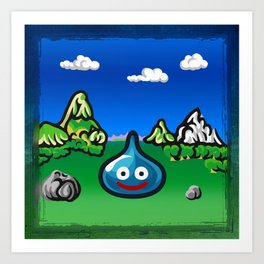 A Slime Draws Near! Art Print
