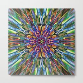 Multicolour Starburst 2 Metal Print