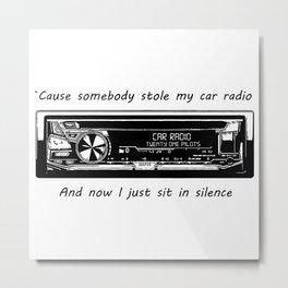 Car Radio Metal Print