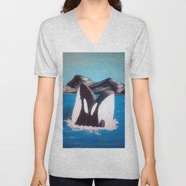 Killer Whales Unisex V-Neck