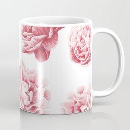 Pink Rose Garden on White Coffee Mug