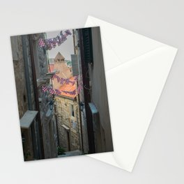 Old streets of old city in south of Croatia, Dubrovnik Stationery Cards