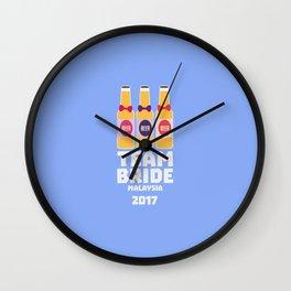 Team Bride Malaysia 2017 T-Shirt Dy7vr Wall Clock