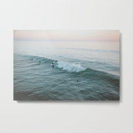 lets surf v Metal Print