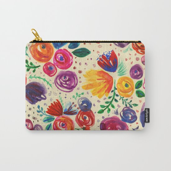 Summer Fruits Floral Carry-All Pouch