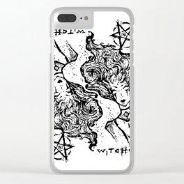 WITCHCRAFT Clear iPhone Case