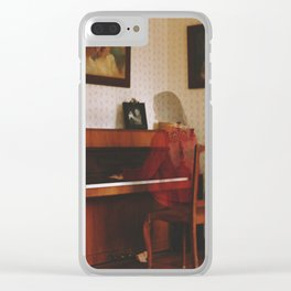Piano lesson Clear iPhone Case