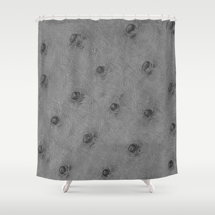 Ostrich Leather Effect Light Grey Shower Curtain By Lescapricesdefilles