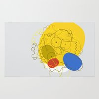 simpsons Area & Throw Rugs featuring Simpsons Van D'oh by Jason Adams