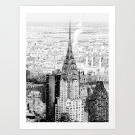 Snow - New York City - Chrysler Building Art Print