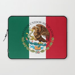Mexican flag augmented scale with Coat of Arms Laptop Sleeve