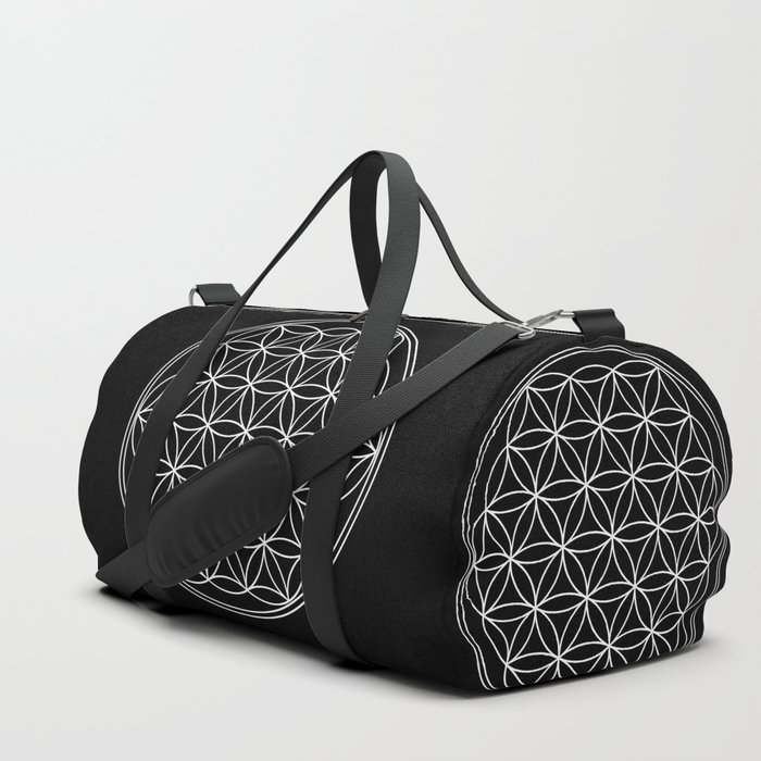 Flower of life on black Duffle Bag