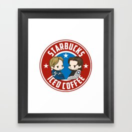 Starbucks - Steve Rogers and Bucky Barnes Iced Coffee  Framed Art Print