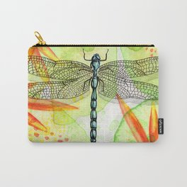 Dragonfly Lilly Art (Watercolor & Ink) Carry-All Pouch