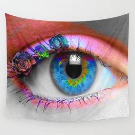 ojo rosado Wall Tapestry