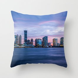 Jersey Sunset Throw Pillow