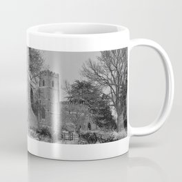 St Botolph's Church, Rugby Black and White Coffee Mug
