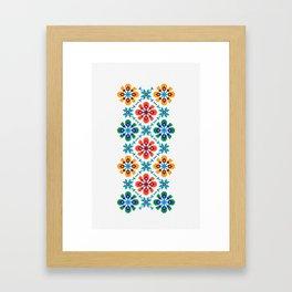 Traditional Folk Pattern Bogliarka, Slovakia Framed Art Print