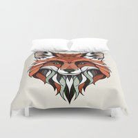 andreas preis Duvet Covers featuring Fox // Colored by Andreas Preis