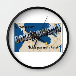Greetings from Collingwood Wall Clock