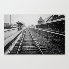 Winter Commute Canvas Print