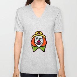 Circus Clown Mascot Unisex V-Neck