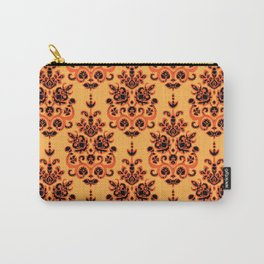 Halloween gold damask ikat Carry-All Pouch