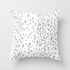 Dots in dove Throw Pillow