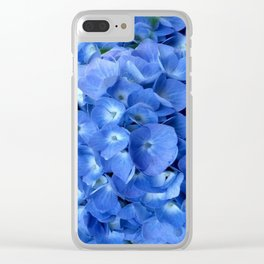 Gorgeous Baby Blue Hydrangeas  Floral Art Clear iPhone Case