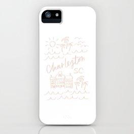 Charleston SC Print iPhone Case