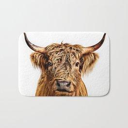 Cute Higland Cattle  Bath Mat