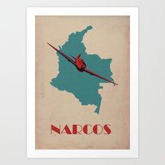 Narcos Vintage Poster Art Print