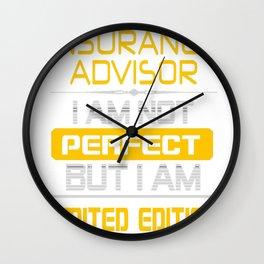 INSURANCE-ADVISOR Wall Clock