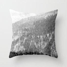 Snow landscape Throw Pillow