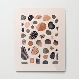 Watercolor Pebbles Metal Print