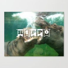 hippo...hippo... Canvas Print