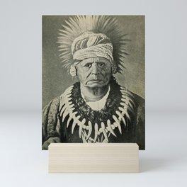 Vintage Illustration - Portrait of Chief Keokuk, of the Sauk People (1910) Mini Art Print