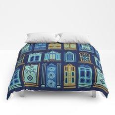 Moroccan Doors – Navy Palette Comforters