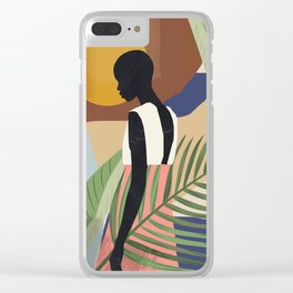 Tropical Girl 2 Clear iPhone Case