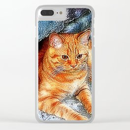 Tiger little cousin Clear iPhone Case