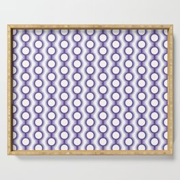 Retro-Delight - Conjoined Circles - Lavender Serving Tray