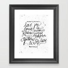 28/52: Galatians 5:22 Framed Art Print