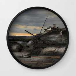 Steampunk / Burtonesque Coastal Fort Wall Clock
