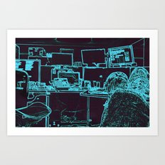 9-1-1 blue Art Print