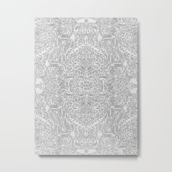 Frost & Ash - an Art Nouveau Inspired Pattern Metal Print