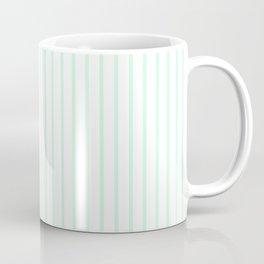 Summermint Green Pinstripe on White Pattern Coffee Mug